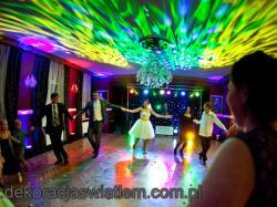 DEKORACJA ŚWIATŁEM sal weselnych