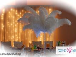 dekoracje weselne, do kościoła, do sali, na samochód...