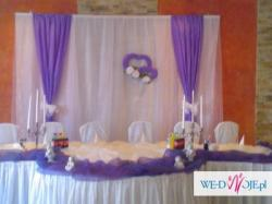 Dekorowanie sal weselnych i kościołów