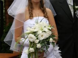 Delikatna biała suknia ślubna 36/38