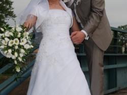 Delikatna i lekka suknia ślubna