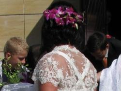 Delikatna kobieca suknia