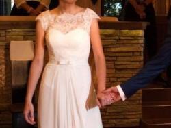 delikatna, kobieca suknia ślubna