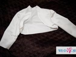 Delikatna, koronkowa suknia Herms Nemesis - bolerko i welon gratis