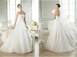 delikatna romantyczna suknia ślubna Pronovias White One 34 36