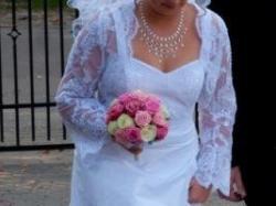 delikatna śliczna suknia ślubna