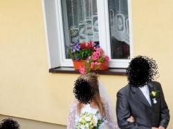 Delikatna Suknia ślubna 34/36 Piekna!