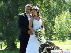 Delikatna, zwiewna suknia ślubna, rozm. 38, kol. biały