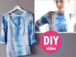 DIY z Ulą: koszulka farbowana metodą batiku