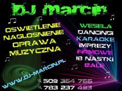 DJ NA WESELE,DJ MARCIN OPRAWA MUZYCZNA,KARAOKE,DYSKOTEKI