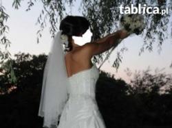 Dla niskiej piękna suknia ślubna w rozmiarze 34.