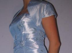 długa niebieska suknia na wesela roz. 36 na wzrost  ok 168