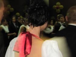 Długa wieczorowa suknia na 100dniówki wesela i inne okoliczności