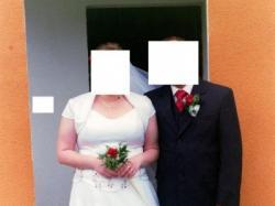 Duża suknia ślubna