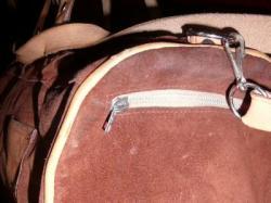Duza  torba zamszowa brązowa
