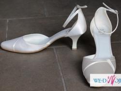 DW STUDIO buty ślubne pantofelki r. 38 25,5cm