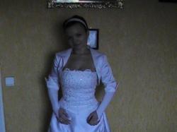 Dwu częściowa suknia ślubna, rozmiar 38 bardzo ladna :) tanio