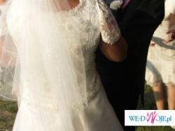 Dwuczęsciowa suknia ślubna ecri