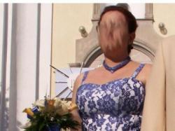 Dwukolorowa suknia - duży rozmiar