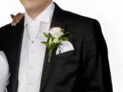 Efektowna kamizelka ślubna