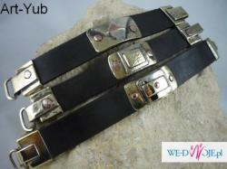 Ekskluzywna bransoletka wykonana od podstaw ręcznie ze skóry