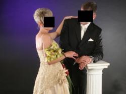 Ekskluzywna suknia ślubna lub wieczorowa Margarett, model sapri – rozmiar 36/38
