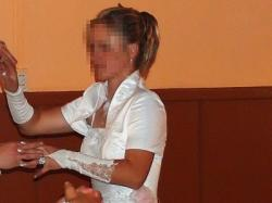 Elegancka Biała suknia 38/40  piękna! z bolekiem! Tren