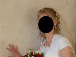 elegancka biała suknia ślubna (bolerko gratis)