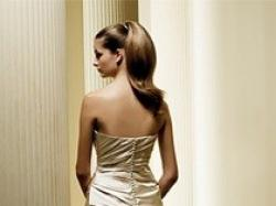 Elegancka, hiszpańska suknia ślubna.