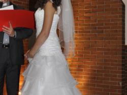 elegancka i oryginalna najmodniejsza suknia ślubna! tanio!