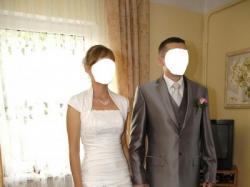 Elegancka i przepiękna suknia ślubna + welon + bolerko gratis!!! (+ ew. buty)