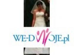 Elegancka i skromna suknia ślubna rozm.38 kremowa