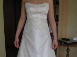 Elegancka, jak nowa suknia ślubna 36/38.