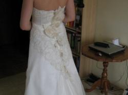 Elegancka, jak nowa suknia ślubna, rozmiar 36/38. Tanio!