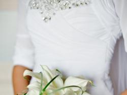 elegancka muślinowa suknia ślubna