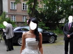 Elegancka ,oryginalna, kobieca Suknia na Ślub kościelny i Cywilny