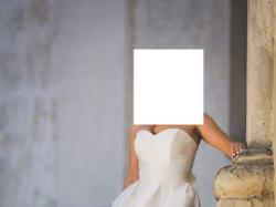 Elegancka, prosta, klasyczna suknia ślubna
