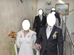 Elegancka skromność... suknia ślubna + futerko GRATIS