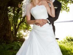 elegancka śliczna suknia ślubna