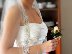 Elegancka suknia Adeline Ronald Joyce 38 ecru