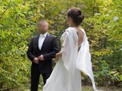 Elegancka suknia Evita + dodatki