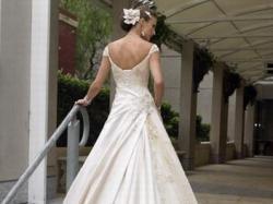 Elegancka suknia na wysoką szczupłą dziewczynę