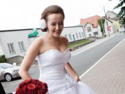 Elegancka Suknia Sincerity Bridal 3452 Koronkowa Biała rozm. 38