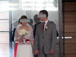 elegancka suknia ślubna - hiszpańska