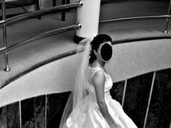 elegancka suknia ślubna jedwab/koronka