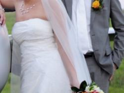 Elegancka suknia ślubna Julia Rosa, rozm. 38-40, 168cm+obcas