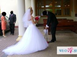 Elegancka suknia ślubna princesska Owena