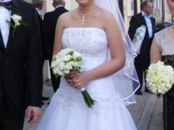 Elegancka suknia ślubna r.36-38
