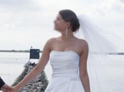 Elegancka suknia ślubna rozm. 38
