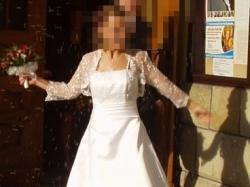 Elegancka suknia slubna rozmiar 36